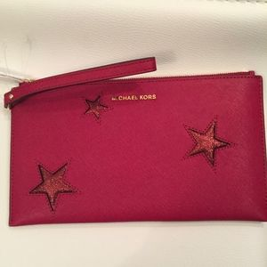 Michael Kors Peek A Boo Lg Zip Clutch